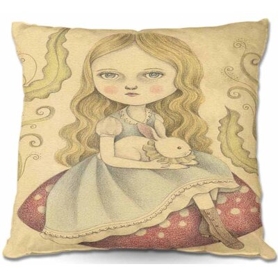Alice Contemplating Throw Pillow Size: 22 H x 22 W x 5 D