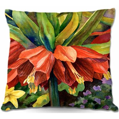 Fritillaria Throw Pillow Size: 22 H x 22 W x 5 D