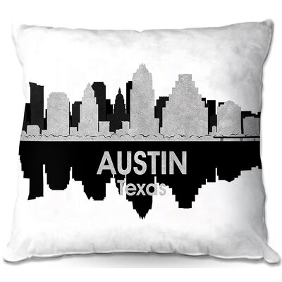 Austin Texas Throw Pillow Size: 20 H x 20 W x 5 D