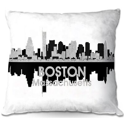 Boston Massachusetts Throw Pillow Size: 22 H x 22 W x 5 D