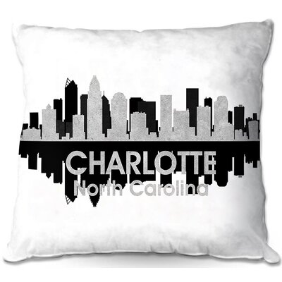 Charlotte North Carolina Throw Pillow Size: 16 H x 16 W x 4 D