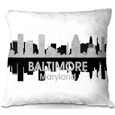 Baltimore Maryland Throw Pillow Size: 16 H x 16 W x 4 D