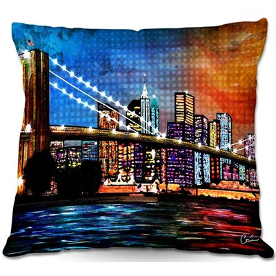 Bridge Throw Pillow Size: 22
