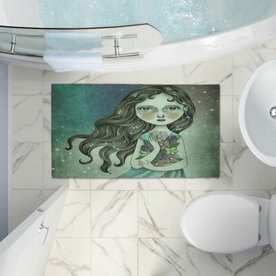 Amalia K.s Memory Foam Bath Rug Size: 24 W x 17 L