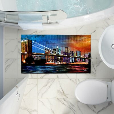 Corina Bakkes Contemporary Memory Foam Bath Rug Size: 24 W x 17 L