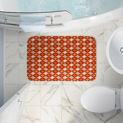 Circles Memory Foam Bath Rug Size: 36 W x 24 L