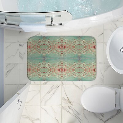 Abstract Memory Foam Bath Rug Size: 17 W x 24 L
