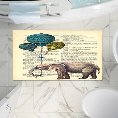 Elephant Balloons Memento Memory Foam Bath Rug Size: 36 W x 24 L