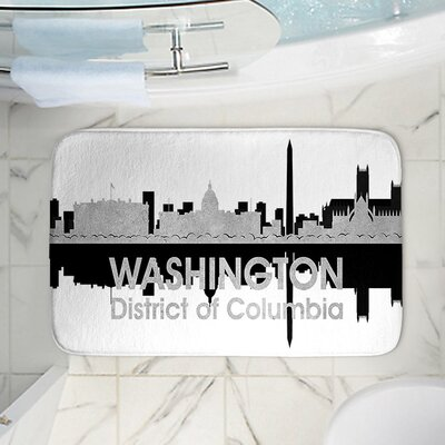 Angelina Vicks Washington DC Memory Foam Bath Rug Size: 24 W x 17 L