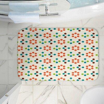 Nika Martinez Flower Memory Foam Bath Rug Size: 24 W x 17 L