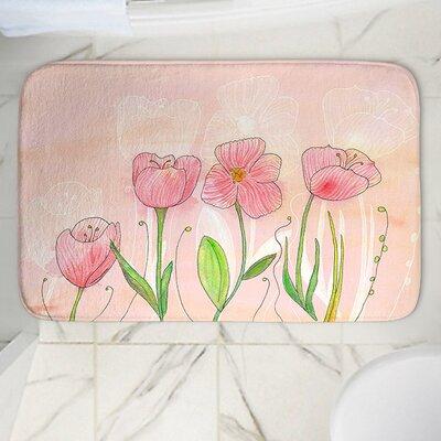 Catherine Holcombes Flowers Memory Foam Bath Rug Size: 24 W x 36 L