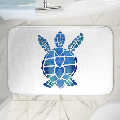Catherine Holcombes Turtle Memory Foam Bath Rug Size: 24 W x 17 L