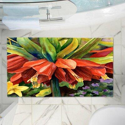Anne Giffords Fritillaria Memory Foam Bath Rug Size: 24 W x 17 L