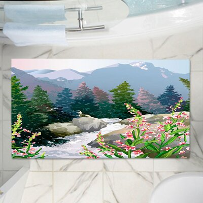 Anne Giffords Mountain Stream Memory Foam Bath Rug Size: 36 W x 24 L
