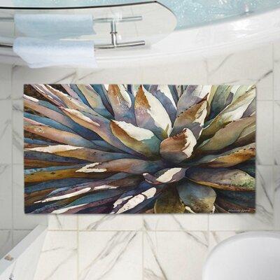 Anne Giffords Sunstruck Yucca Plant Memory Foam Bath Rug Size: 24 W x 17 L