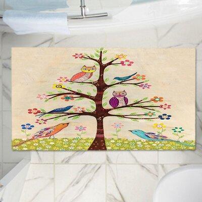 Sascalia Owl Bird Tree Memory Foam Bath Rug Size: 24 W x 17 L