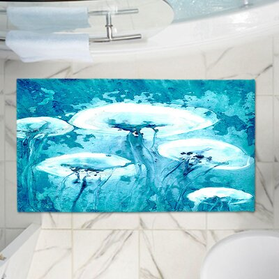 CrownPoint Luminous Jelly Fish Memory Foam Bath Rug Size: 24 W x 36 L