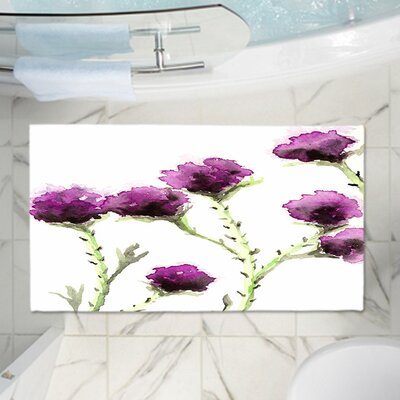 CrownPoint Milk Thistle Memory Foam Bath Rug Size: 36 W x 24 L