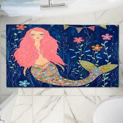 Sascalia Mermaid Memory Foam Bath Rug Size: 24 W x 17 L