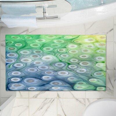 CrownPoint Rivulet Memory Foam Bath Rug Size: 24 W x 17 L