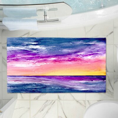 CrownPoint Tormenta Waves Memory Foam Bath Rug Size: 24 W x 17 L