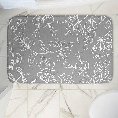 Floral Mix Memory Foam Bath Rug Size: 36 W x 24 L