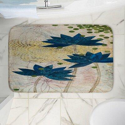Lotus Memory Foam Bath Rug Size: 17 W x 24 L