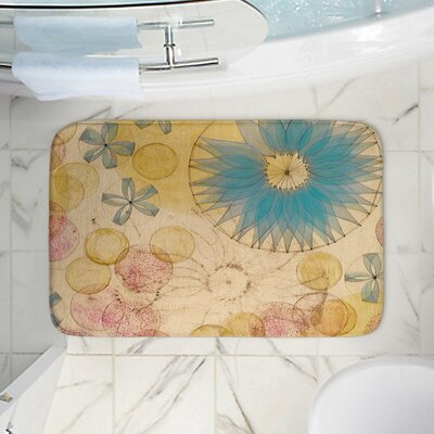Circle Inspiration Memory Foam Bath Rug Size: 17 W x 24 L