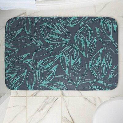 Leafy Layers Memory Foam Bath Rug Size: 24 W x 17 L