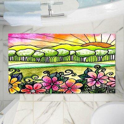 Robin Mead Bright Horizon Memory Foam Bath Rug Size: 24 W x 17 L