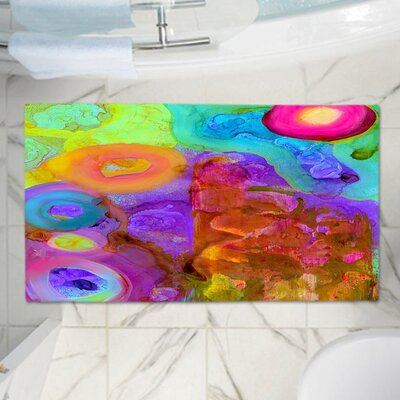 China Carnellas Rectangle Memory Foam Bath Rug Size: 17 W x 24 L