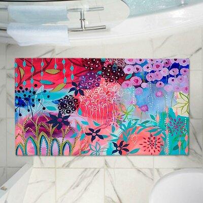 Garden Flowers Memory Foam Bath Rug Size: 24 W x 36 L