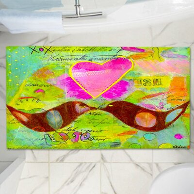 China Carnellas Heart Memory Foam Bath Rug Size: 24 W x 17 L