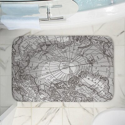 Catherine Holcombes Arctic Map Memory Foam Bath Rug Size: 36 W x 24 L