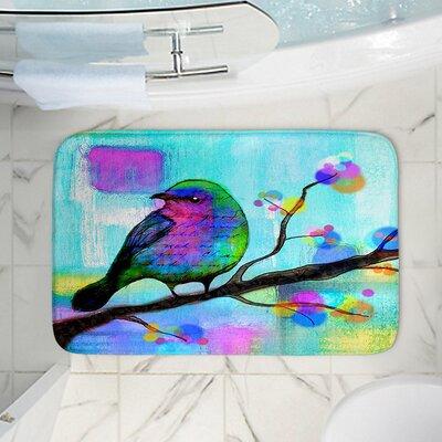 Bird Memory Foam Bath Rug Size: 36 W x 24 L