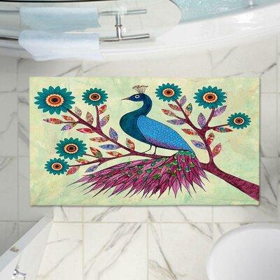 Peacock Memory Foam Bath Rug Size: 36 W x 24 L
