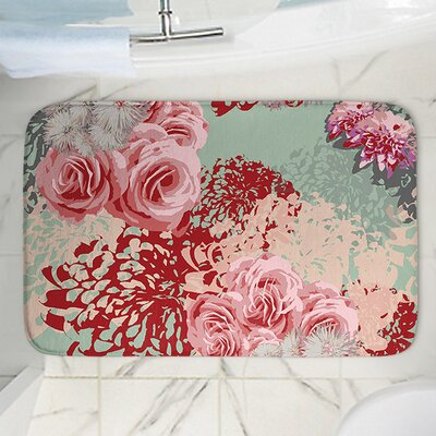 Mint Blush Memory Foam Bath Rug Size: 24 W x 17 L