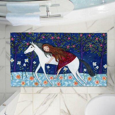 Horse Dreamer Memory Foam Bath Rug Size: 24 W x 17 L