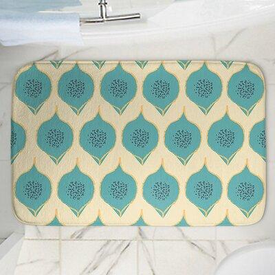 Teal Petals Memory Foam Bath Rug Size: 36 W x 24 L
