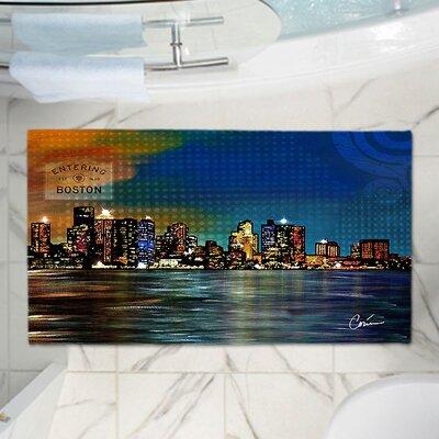 Corina Bakkes City Skyline Memory Foam Bath Rug Size: 24 W x 17 L