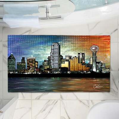 Corina Bakkes Contemporary City Skyline Memory Foam Bath Rug Size: 24 W x 17 L