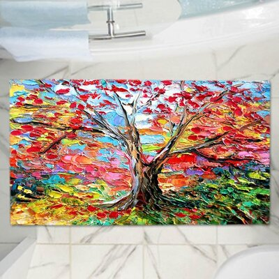 Aja Anns Story of the Tree 59 Memory Foam Bath Rug Size: 24 W x 17 L