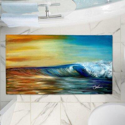 Corina Bakkes Ocean Wave Memory Foam Bath Rug Size: 36 W x 24 L
