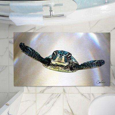 Corina Bakkes Turtle Memory Foam Bath Rug Size: 24 W x 17 L