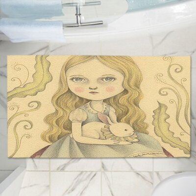 Amalia K.s Alice Contemplating Memory Foam Bath Rug Size: 24 W x 17 L