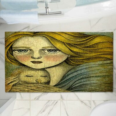 Amalia K.s The Guardian Memory Foam Bath Rug Size: 24 W x 17 L