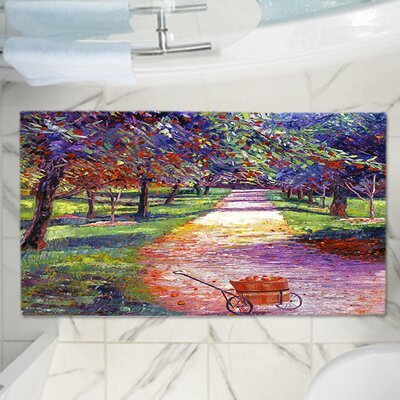 David Lloyd Glovers Memory Foam Bath Rug Size: 24 W x 17 L