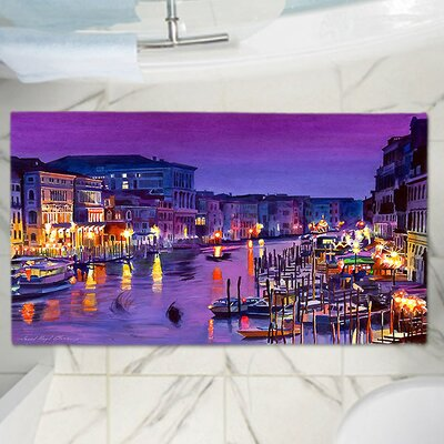David Lloyd Glovers Romantic Venice Night Memory Foam Bath Rug Size: 24 W x 36 L