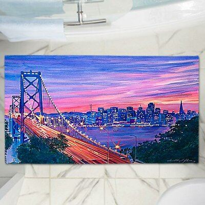 David Lloyd Glovers San Francisco Nights Memory Foam Bath Rug Size: 24 W x 17 L