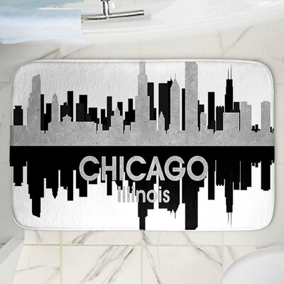 Angelina Vicks Chicago Memory Foam Bath Rug Size: 24 W x 17 L
